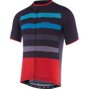 Peloton men's short sleeve jersey, torn stripes