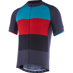 Peloton men's short sleeve jersey, colour blocks