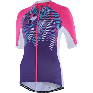 Sportive women's short sleeve jersey, crosshatch