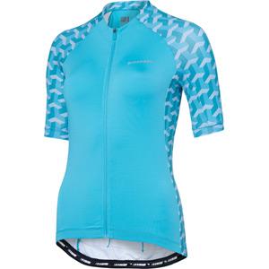 Sportive women's short sleeve jersey, geo camo