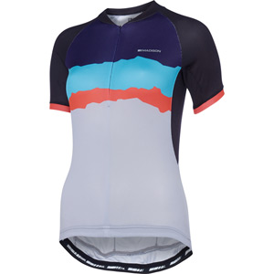 Keirin women's short sleeve jersey, torn stripes