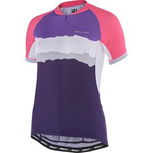 Keirin women's short sleeve jersey, torn stripes