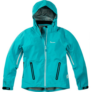 Flo women's waterproof jacket, aqua blue size 16