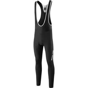 Sportive Fjord DWR men's bib tights with pad, black medium