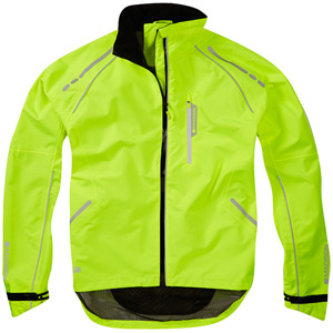 Prime men's waterproof jacket, hi-viz yellow X-large