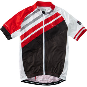 Sportive full-zip men's short sleeve jersey