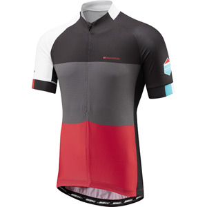 Sportive half-zip men's short sleeve jersey