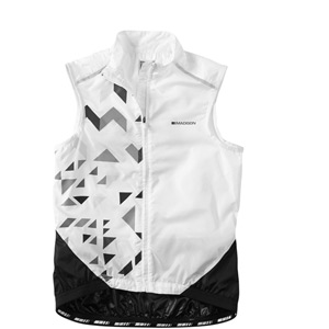 Sportive women's windproof shell gilet