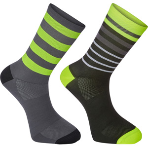 Sportive long sock twin pack, multi hoop