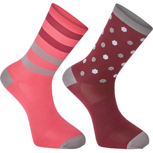 Sportive long sock twin pack, hex dots