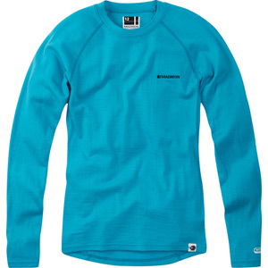 Isoler Merino women's long sleeve baselayer, aqua blue size 10