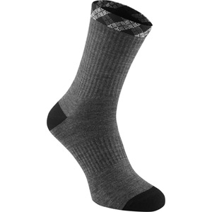Assynt men's merino MTB sock, grey / black medium
