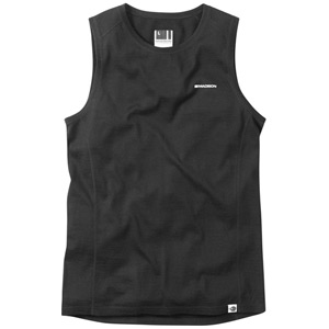 Isoler Merino men's sleeveless baselayer, black medium