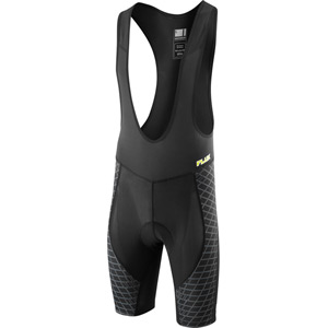 Flux men's liner bib shorts, black large
