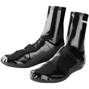 RoadRace PU Lycra aero overshoes, black large