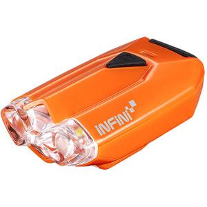 Lava super bright micro USB front light with QR bracket orange
