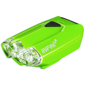 Lava super bright micro USB front light with QR bracket green