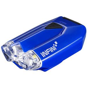 Lava super bright micro USB front light with QR bracket blue
