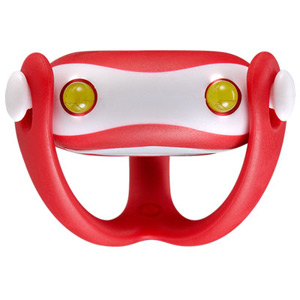 Wukong silicone front light, universal fitting, batteries included, red