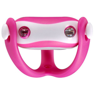 Wukong silicone front light, universal fitting, batteries included, pink