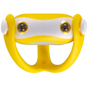 Wukong silicone front light, universal fitting, batteries included, yellow