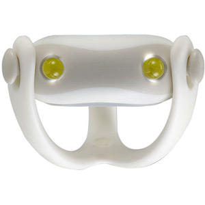 Wukong silicone front light, universal fitting, batteries included, white