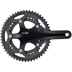 FC-5700 105 double chainset - HollowTech II 175 mm 53 / 39T black