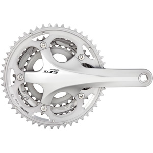 FC-5703 105 triple chainset - HollowTech II 165 mm 50 / 39 / 30 silver