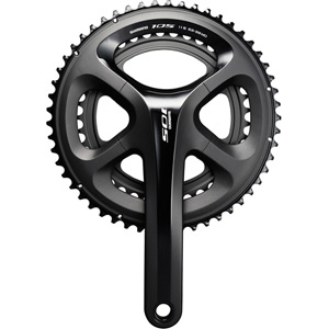 FC-5800 105 double chainset, HollowTech II 175 mm 50 / 34T, black