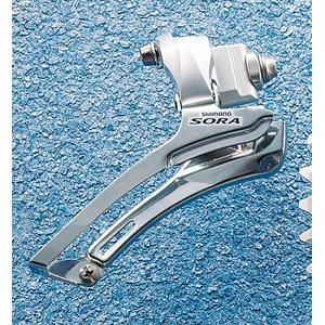 FD-3400 Sora 9-speed front derailleur, double braze-on