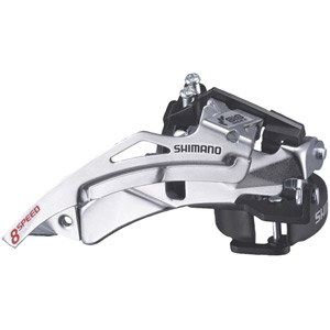 FD-M190 MTB front derailleur, top swing, dual-pull and multi fit for 42T
