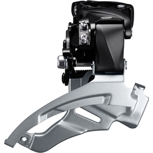 FD-M2000 Altus 9-speed hybrid front derailleur, conventional swing, dual-pull