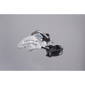 M360 Acera hybrid front derailleur, top swing, dual-pull and multi fit