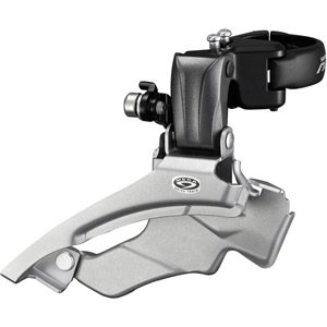 FD-M371 Altus 9-speed front derailleur, conventional swing, dual-pull