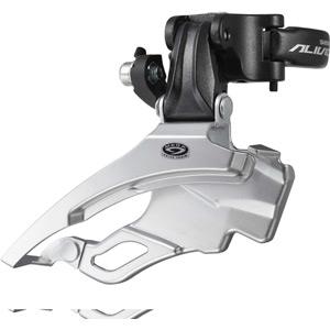 FD-M431 Alivio 9-speed front derailleur, conventional swing, dual-pull