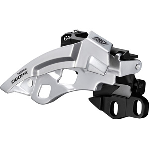 FD-M610 Deore 10-speed triple front derailleur, dual-pull, E-type