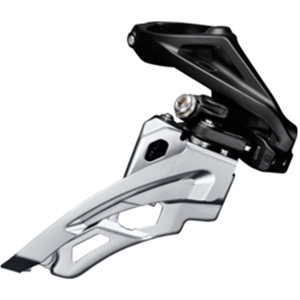 Deore M612-H triple front derailleur, high clamp, side swing, front pull
