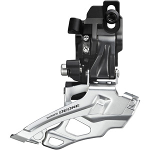 FD-M616 Deore 10-speed double front derailleur, dual-pull, direct-fit, black