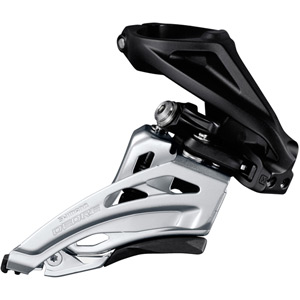 Deore M617-H double front derailleur, high clamp, side swing, front pull