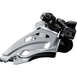 Deore M617-L double front derailleur, low clamp, side swing, front pull