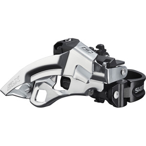 FD-M670-A SLX 10-speed triple front derailleur, top swing, dual-pull