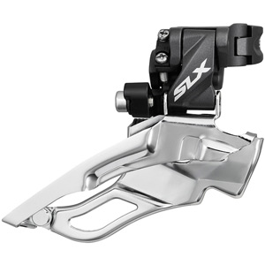 FD-M671-A SLX 10-speed triple front derailleur, conventional swing, dual-pull