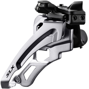 SLX M672-L triple front derailleur, low clamp, side swing, front pull