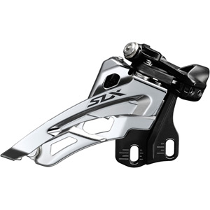 SLX M7000-E triple 10-spd front derailleur, E-type mount, side swing, front-pull