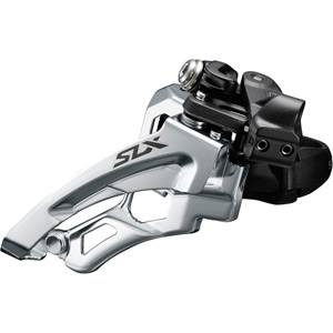 SLX M7000-L triple 10-speed front derailleur, low clamp, side swing, front-pull