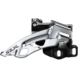 SLX M7005-E triple 10-spd front derailleur, E-type mount, top swing, dual-pull