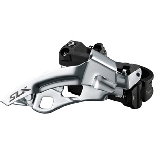 SLX M7005-L triple 10-speed front derailleur, low clamp, top swing, dual-pull