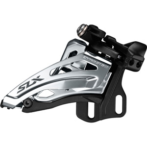 SLX M7020-E double 11-spd front derailleur, E-type mount, side swing, front-pull