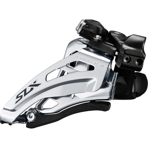 SLX M7020-L double 11-speed front derailleur, low clamp, side swing, front-pull