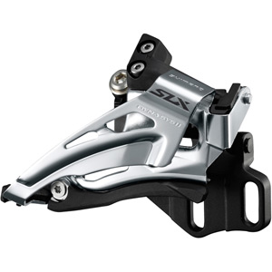 SLX M7025-E double 11-spd front derailleur, E-type mount, top swing, down-pull